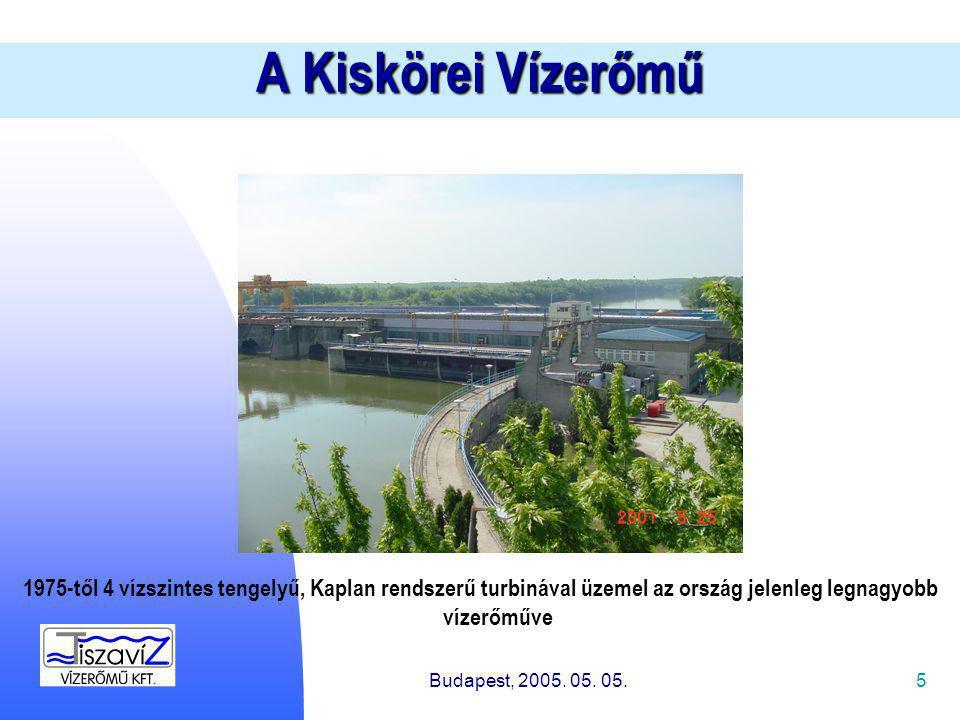 5 A Kiskörei Vízerőmű Budapest, 2005. 05. 05.