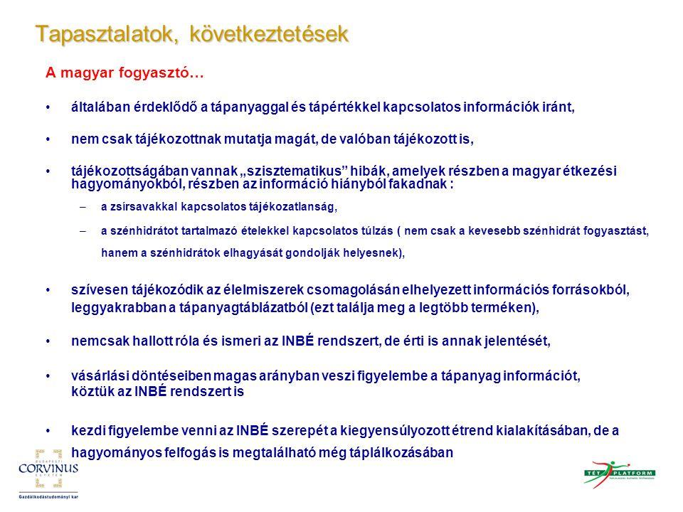 A magyar fogyasztó… általában érdeklődő a tápanyaggal és tápértékkel kapcsolatos információk iránt, nem csak tájékozottnak mutatja magát, de valóban t