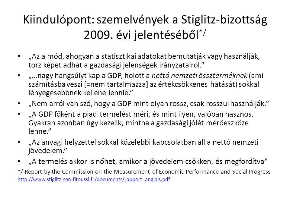 """Kiindulópont: szemelvények a Stiglitz-bizottság 2009. évi jelentéséből */ """"Az a mód, ahogyan a statisztikai adatokat bemutatják vagy használják, torz"""