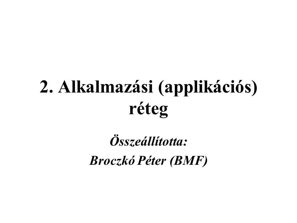 2. Alkalmazási (applikációs) réteg Összeállította: Broczkó Péter (BMF)