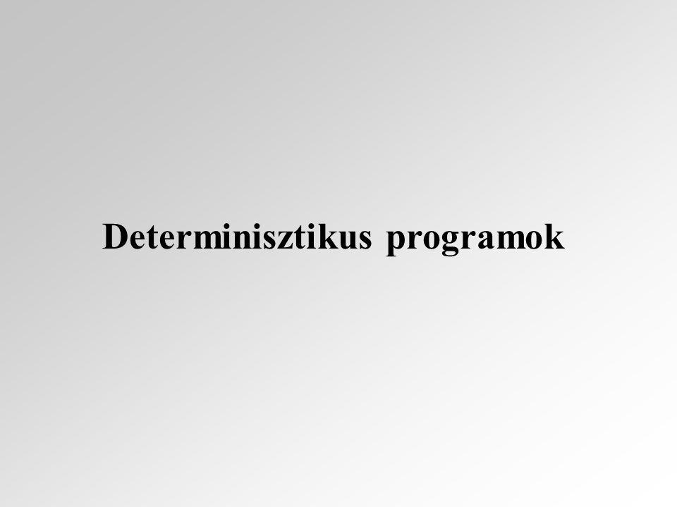 A program (denotációs) szemantikája az utasítások relációs szemantikája segítségével definiálható.