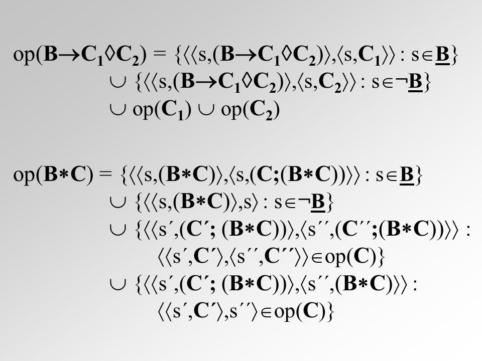 {p}C{q} =  i  P(  ).(  p,C   i)  (((i  )  op(C))  (  i))  ((i  S)  q), azaz {p}C{q} pontosan akkor igaz, ha a konfigurációk- nak létezik egy olyan i (globális invariáns) tulaj- donsága, amelyre igazak a következők: minden p tulajdonságú s állapot esetén  s,C  i tulajdonságú.