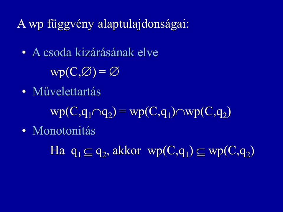 wp: Uts  Felt  Felt weakest precondition wp(C,q) = { s :  (C,  s,C  ).  n>0.  n (C,  s,C  )  (n)  q } [p]C[q]=  s  p.  (C,  s,