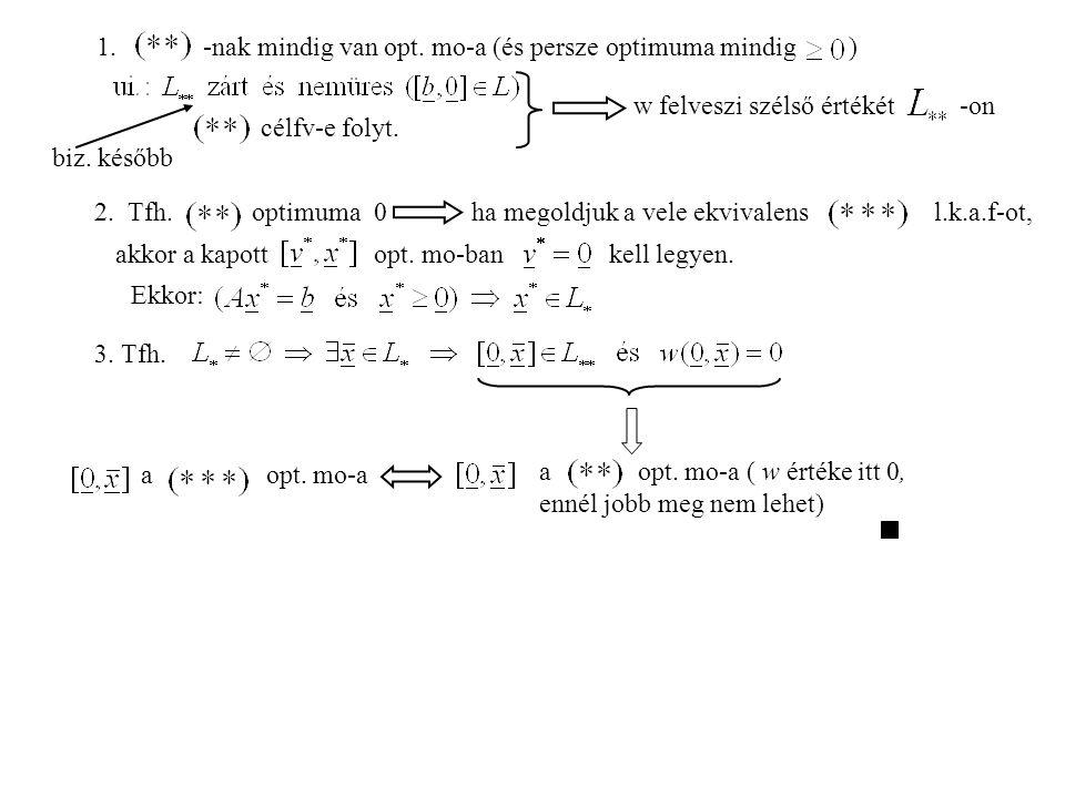 1.-nak mindig van opt. mo-a (és persze optimuma mindig ) célfv-e folyt.