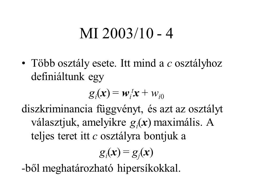 MI 2003/10 - 4 Több osztály esete.