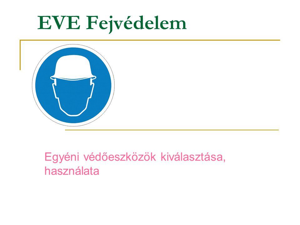 EVE Fejvédelem Egyéni védőeszközök kiválasztása, használata