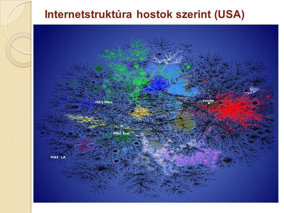 Internetstruktúra hostok szerint (USA)
