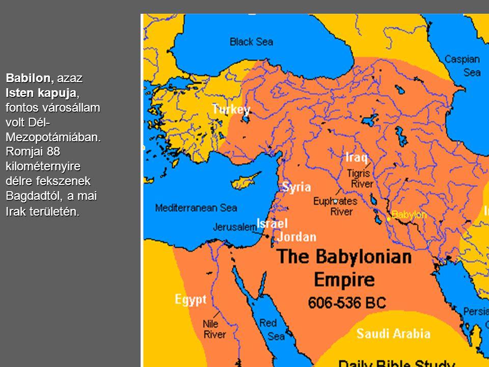 Nabukonodoz (Nabú-kudurri-uszur, Nabukadnecár) király palotájának romjai Babilonban