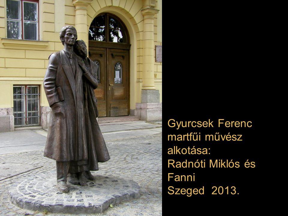 Bíró Lajos mátészalkai szobrászművész alkotása: Szent-Györgyi Albert Szeged 2013.