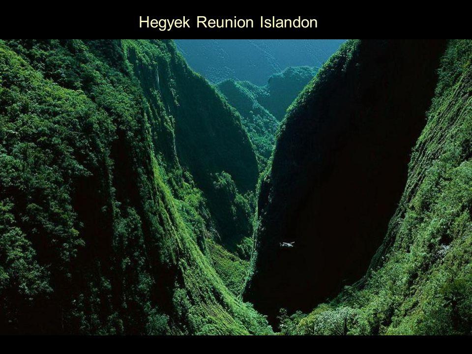 Hegyek Reunion Islandon