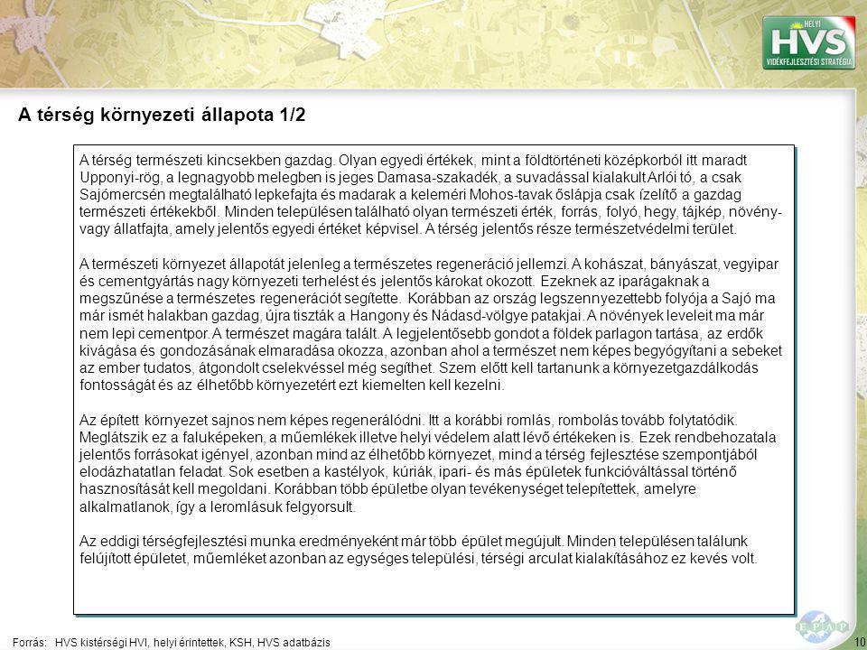 11 A térségnek jelenleg nincs egységes térségi arculatfejlesztési terve.