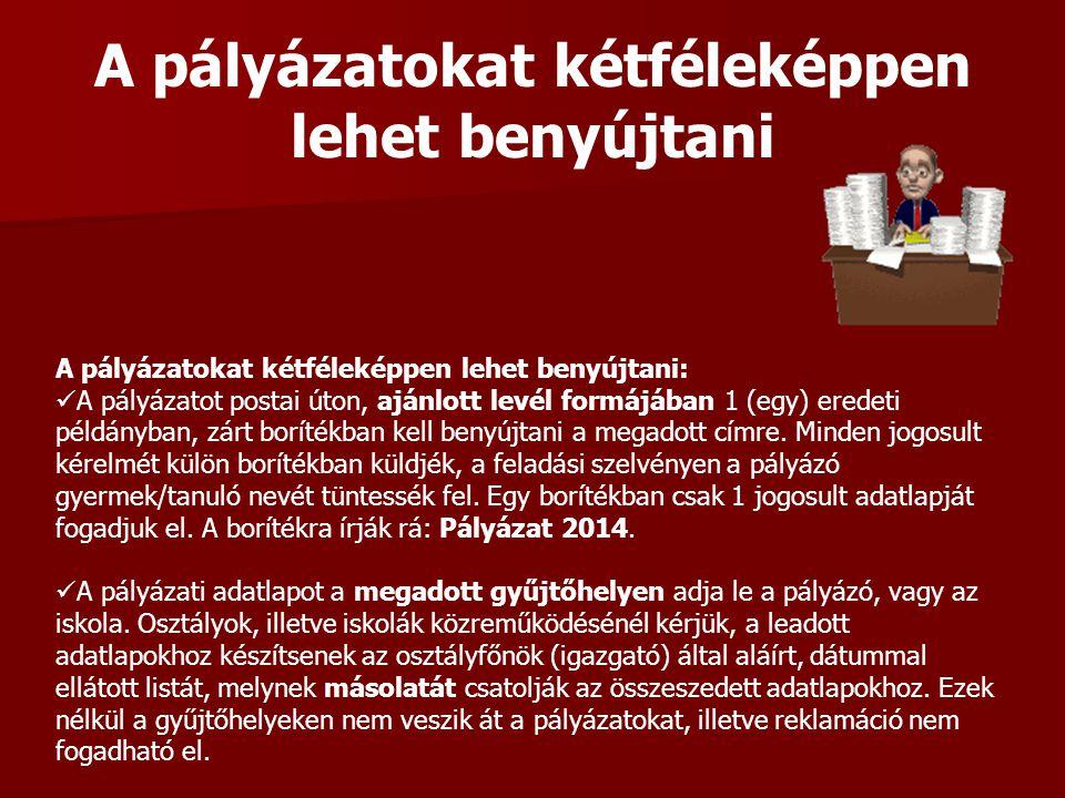 Pályázat elbírálási és eljárási rend Pályázat elbírálási és eljárási rend: A beérkezett pályázatokról a Szlovákiai Magyar Pedagógusok Szövetsége ellenőrzés és feldolgozás után javaslatot tesz a Bethlen Gábor Alapkezelő Zrt-nek, aki döntési javaslatát a Bethlen Gábor Alapról szóló 2010.