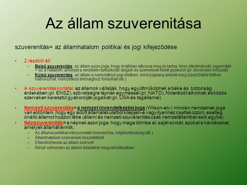 Félprezidenciális köztársaság Átmeneti kormányforma a parlamentáris és a prezidenciális köztársaság között.