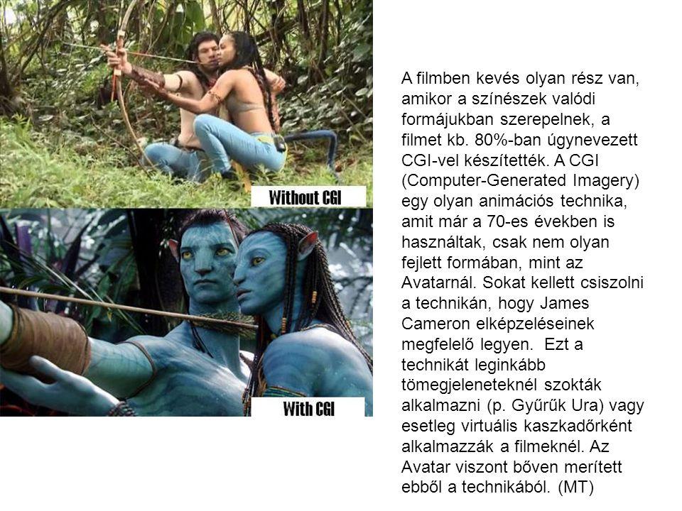 A filmben kevés olyan rész van, amikor a színészek valódi formájukban szerepelnek, a filmet kb. 80%-ban úgynevezett CGI-vel készítették. A CGI (Comput