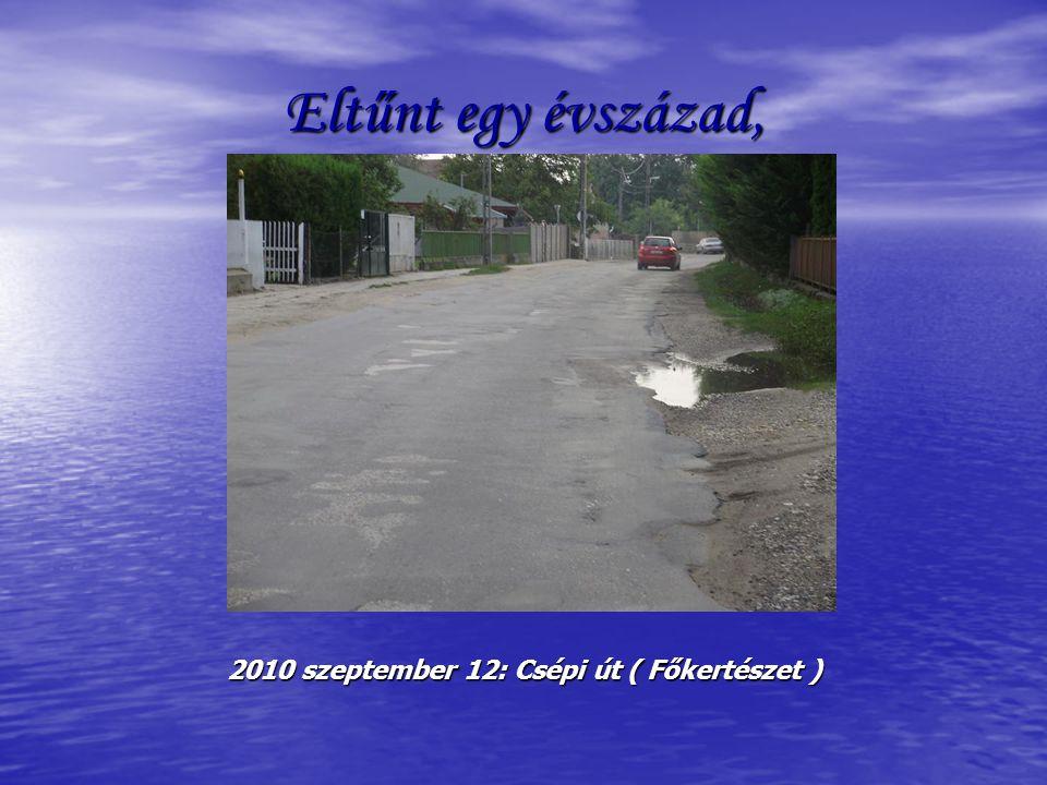 Eltűnt egy évszázad, 2010 szeptember 12: Csépi út ( Főkertészet )