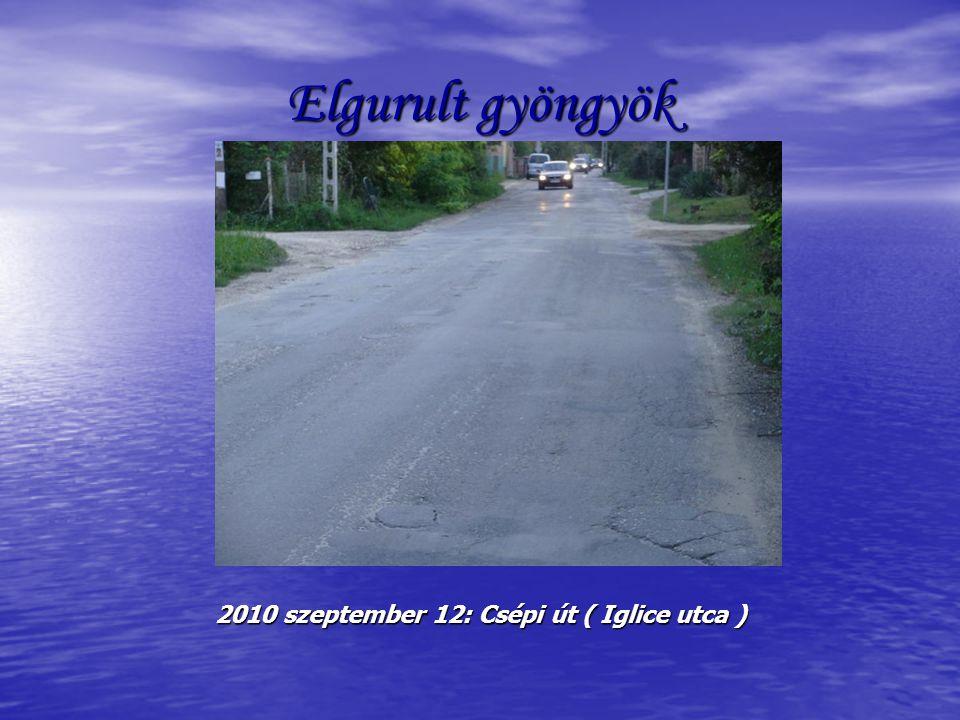 Elgurult gyöngyök 2010 szeptember 12: Csépi út ( Iglice utca )