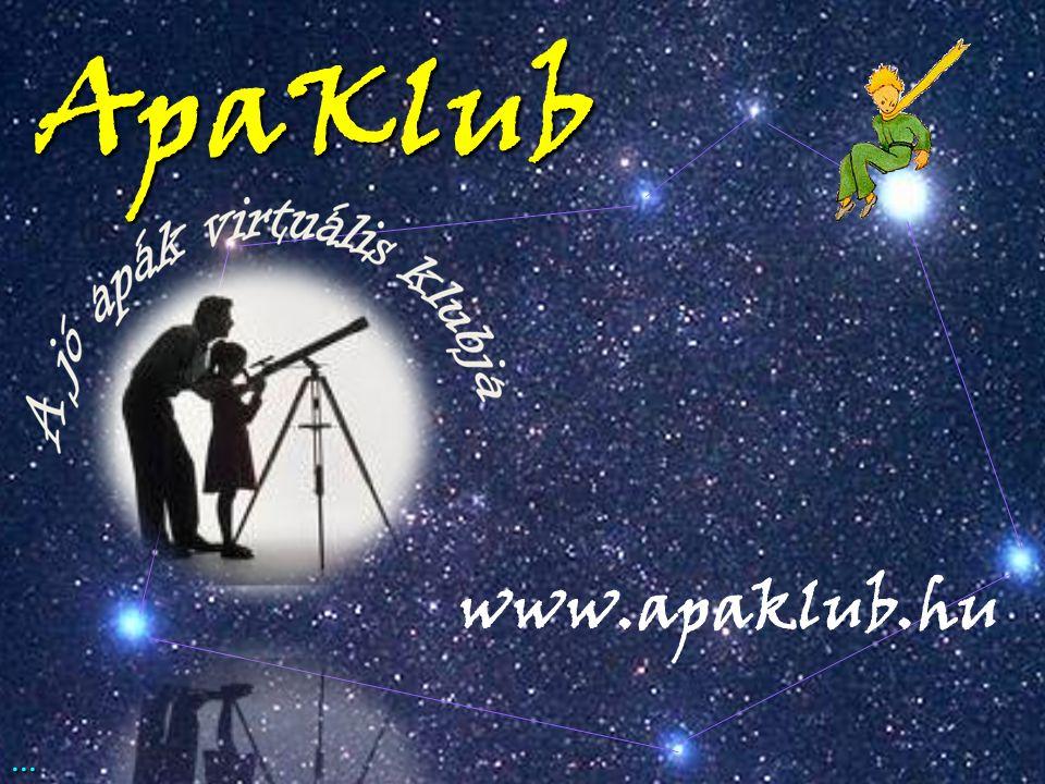www.apaklub.hu Ha a válasza igen, akkor keresse föl a oldalt. Nem csak Apáknak!...