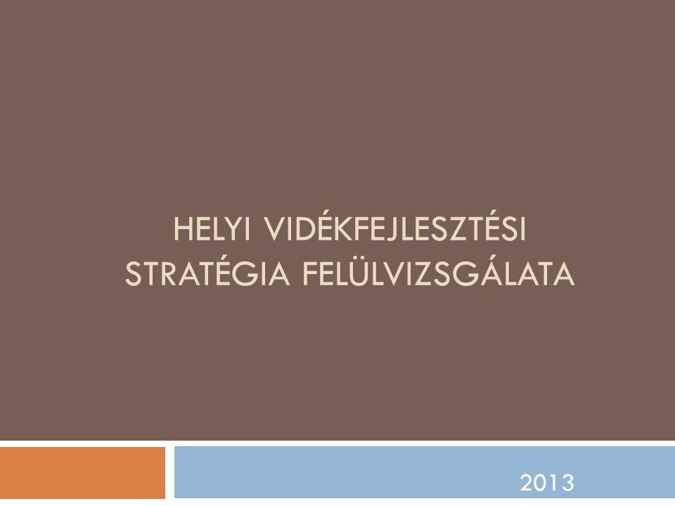 HELYI VIDÉKFEJLESZTÉSI STRATÉGIA FELÜLVIZSGÁLATA 2013