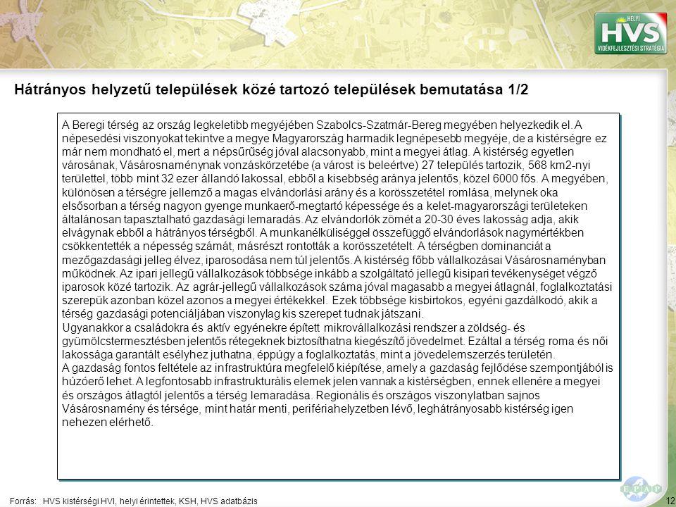 12 A Beregi térség az ország legkeletibb megyéjében Szabolcs-Szatmár-Bereg megyében helyezkedik el. A népesedési viszonyokat tekintve a megye Magyaror