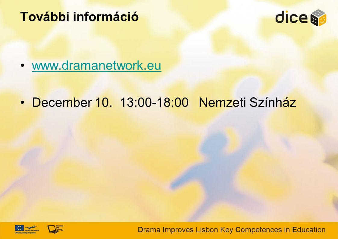 További információ www.dramanetwork.eu December 10. 13:00-18:00 Nemzeti Színház