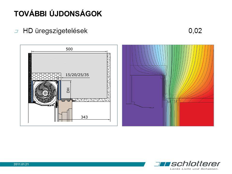 TOVÁBBI ÚJDONSÁGOK HD üregszigetelések 0,02 2011.01.21