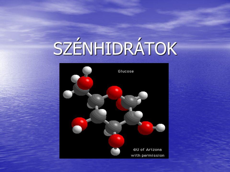 A szénhidrátok polihidroxi-aldehidek, ill.