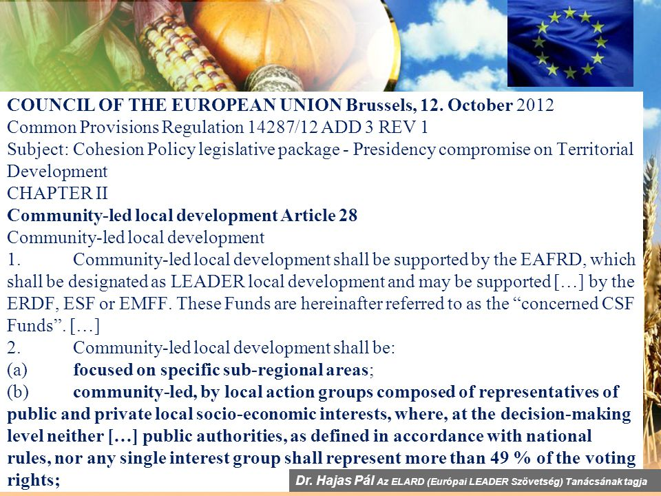 COUNCIL OF THE EUROPEAN UNION Brussels, 12.