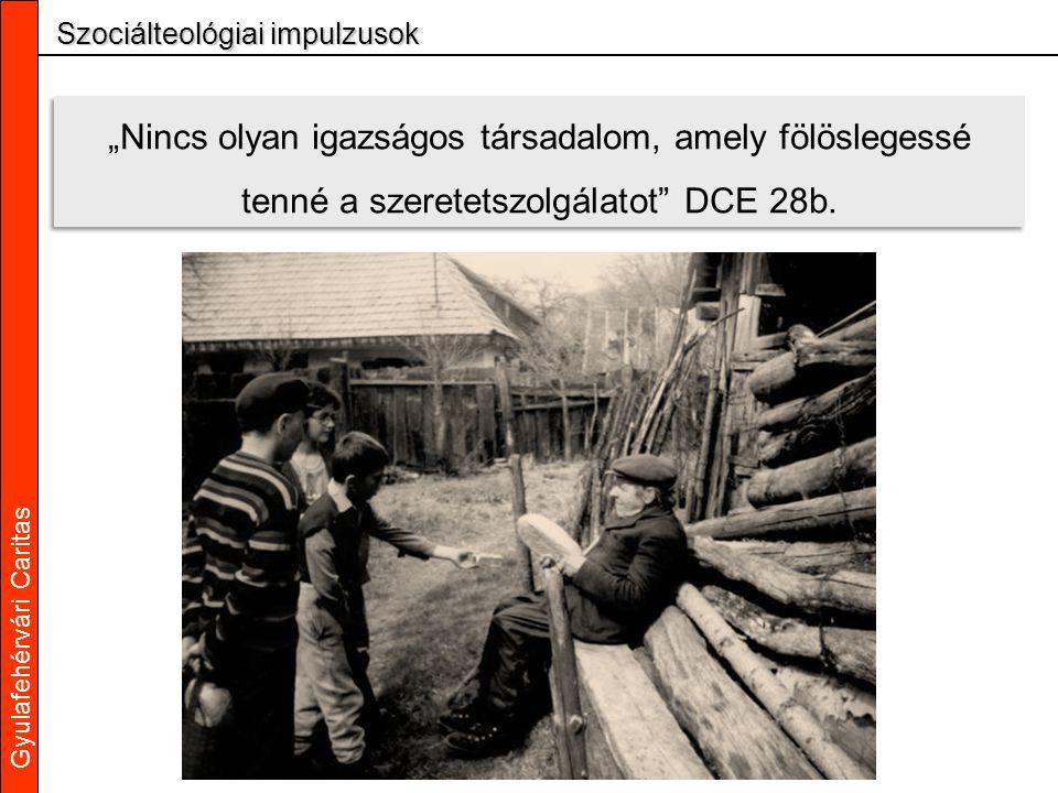 """Gyulafehérvári Caritas Szociálteológiai impulzusok """"Nincs olyan igazságos társadalom, amely fölöslegessé tenné a szeretetszolgálatot DCE 28b."""
