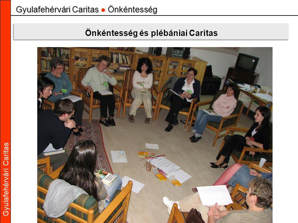 Gyulafehérvári Caritas Gyulafehérvári Caritas ● Önkéntesség Önkéntesség és plébániai Caritas