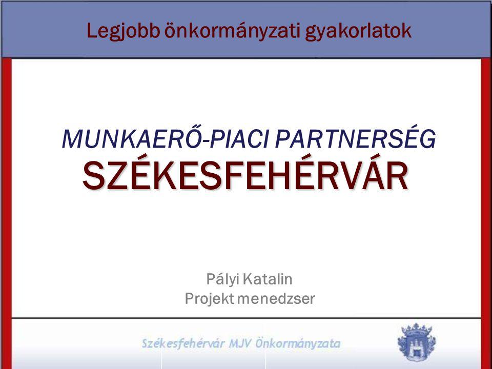SZÉKESFEHÉRVÁR MUNKAERŐ-PIACI PARTNERSÉG Pályi Katalin Projekt menedzser Legjobb önkormányzati gyakorlatok