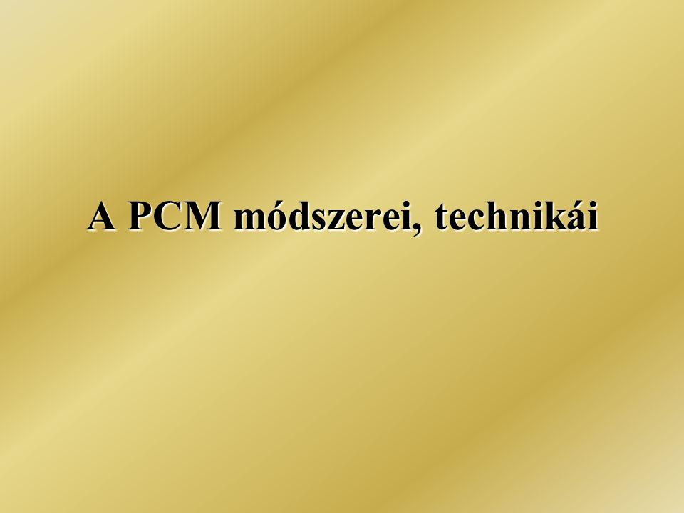 A PCM módszerei, technikái