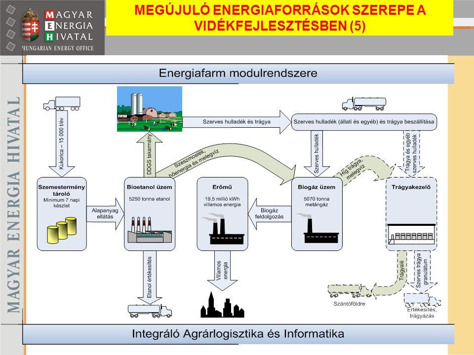 Kiemelt Program MEGÚJULÓ ENERGIAFORRÁSOK SZEREPE A VIDÉKFEJLESZTÉSBEN (5)