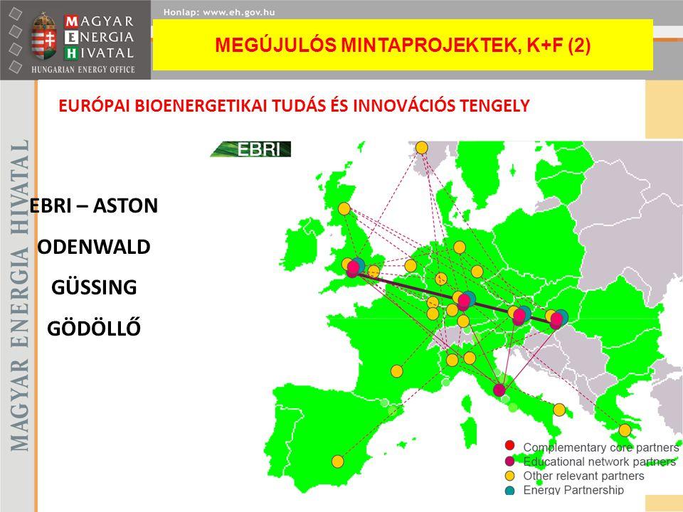 EURÓPAI BIOENERGETIKAI TUDÁS ÉS INNOVÁCIÓS TENGELY EBRI – ASTON ODENWALD GÜSSING GÖDÖLLŐ MEGÚJULÓS MINTAPROJEKTEK, K+F (2)