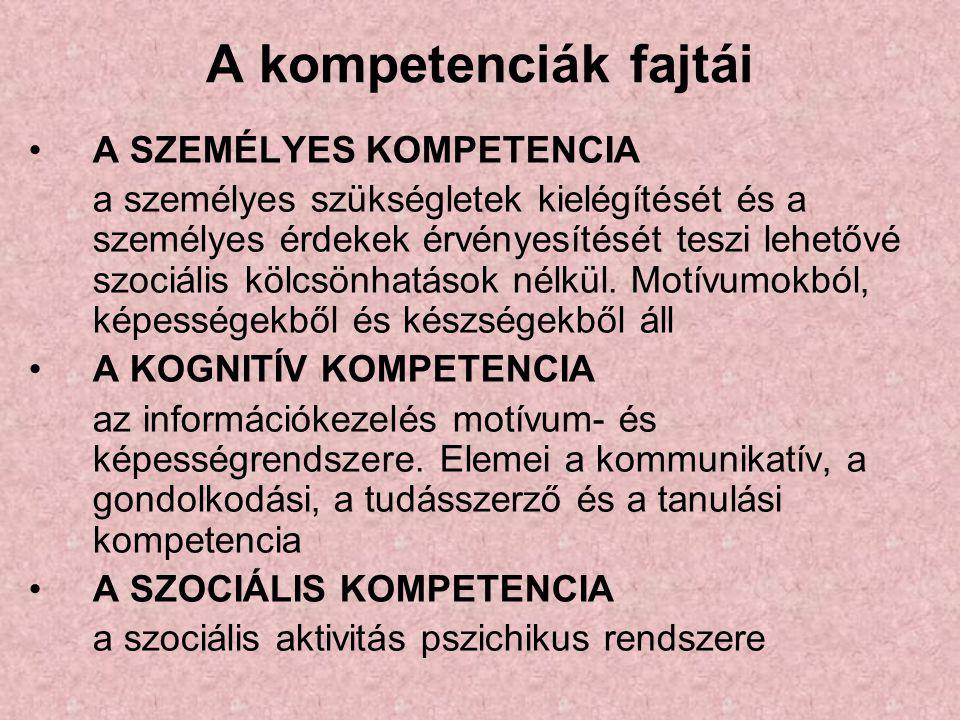 """A kompetencia és a személyiség viszonya Kompetensnek lenni, annyi, mint """"illetékesnek , """"hozzáértőnek lenni."""