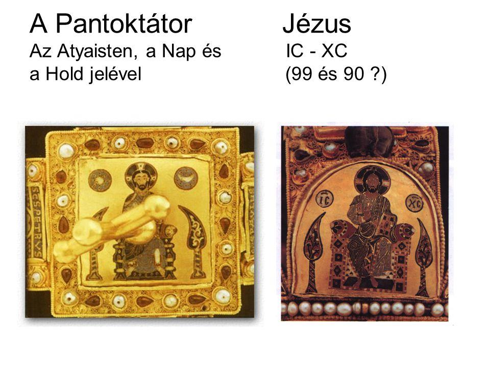 A Pantoktátor Jézus Az Atyaisten, a Nap és IC - XC a Hold jelével (99 és 90 ?)