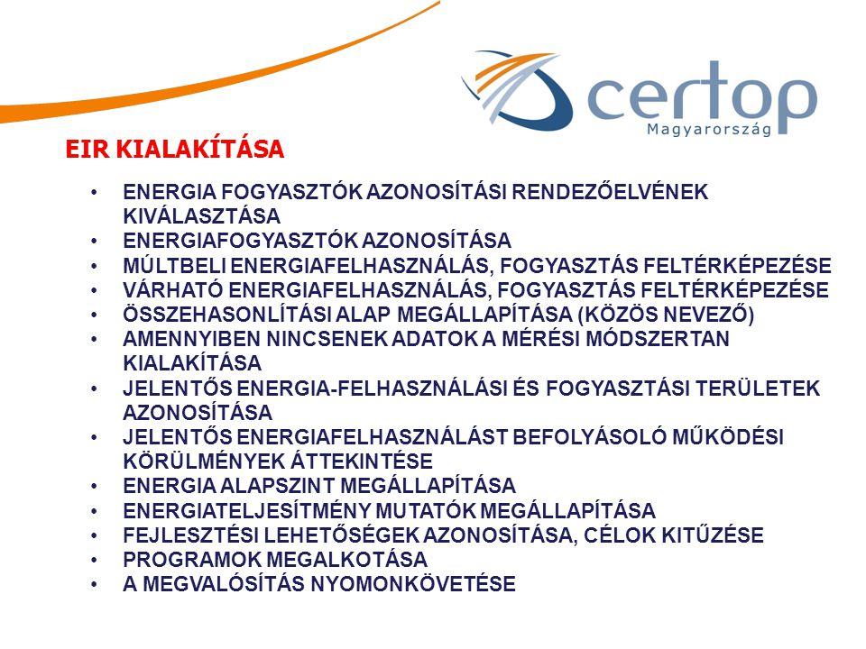 ENERGIA FOGYASZTÓK AZONOSÍTÁSI RENDEZŐELVÉNEK KIVÁLASZTÁSA ENERGIAFOGYASZTÓK AZONOSÍTÁSA MÚLTBELI ENERGIAFELHASZNÁLÁS, FOGYASZTÁS FELTÉRKÉPEZÉSE VÁRHA