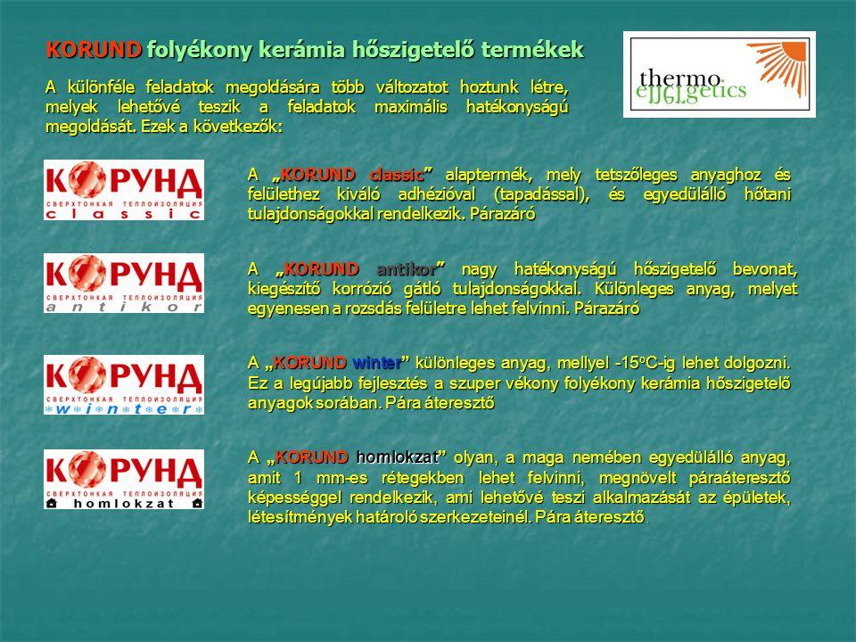 A KORUND folyékony kerámia hőszigetelő anyagok oroszországi és Európai Uniós tanúsítványai Megfelelőségi – GOSZT, CE ISO 9001 tűzvédelmi közegészségügyi