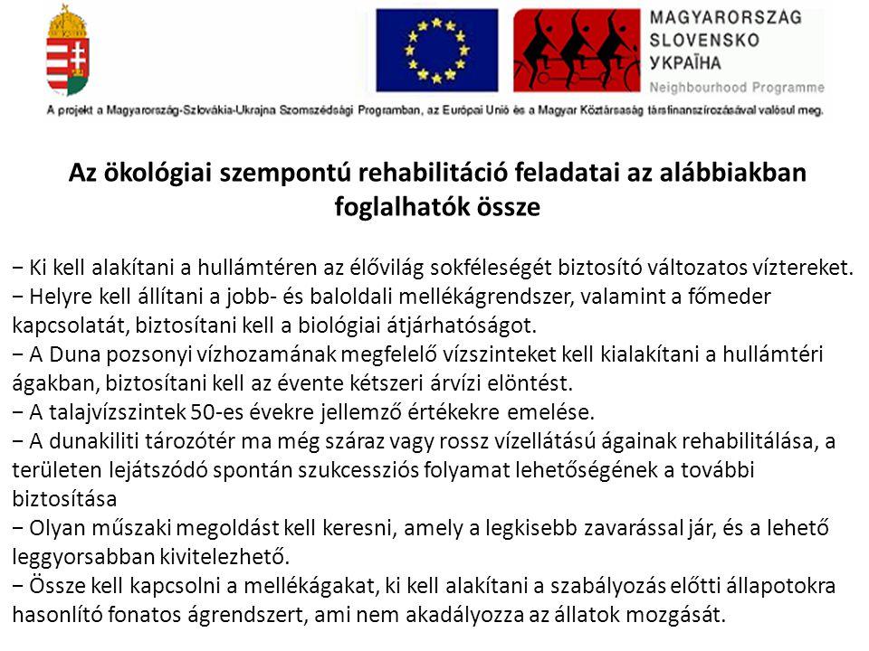 Támogatottság Összességében a VKI előírásainak a SZITE javaslata megfelel.