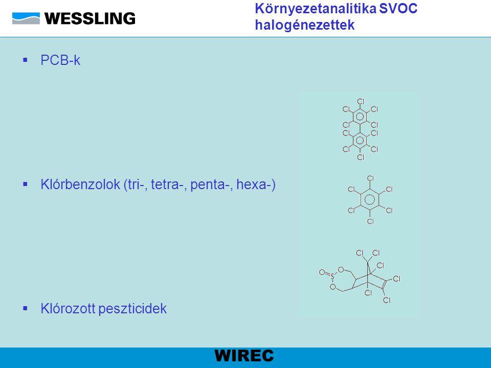 Élelmiszeranalitika Zsírsavak WIREC Standard kromatogram