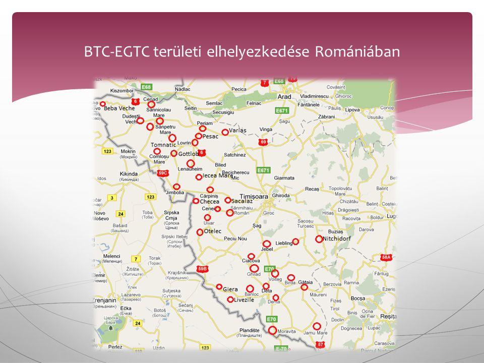 BTC-EGTC területi elhelyezkedése Romániában