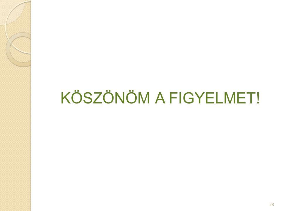 KÖSZÖNÖM A FIGYELMET! 28