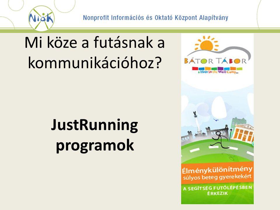 Mi köze a futásnak a kommunikációhoz JustRunning programok
