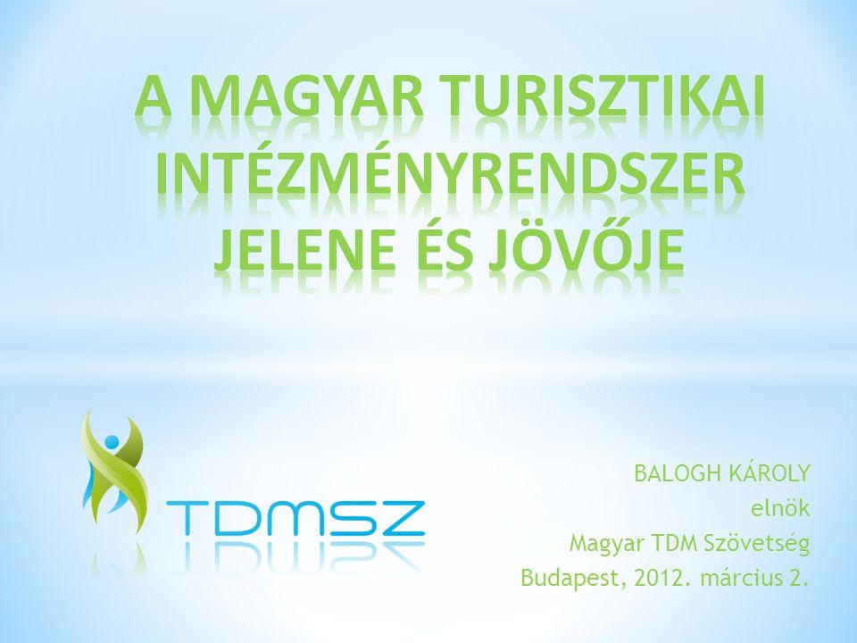 BALOGH KÁROLY elnök Magyar TDM Szövetség Budapest, 2012. március 2.