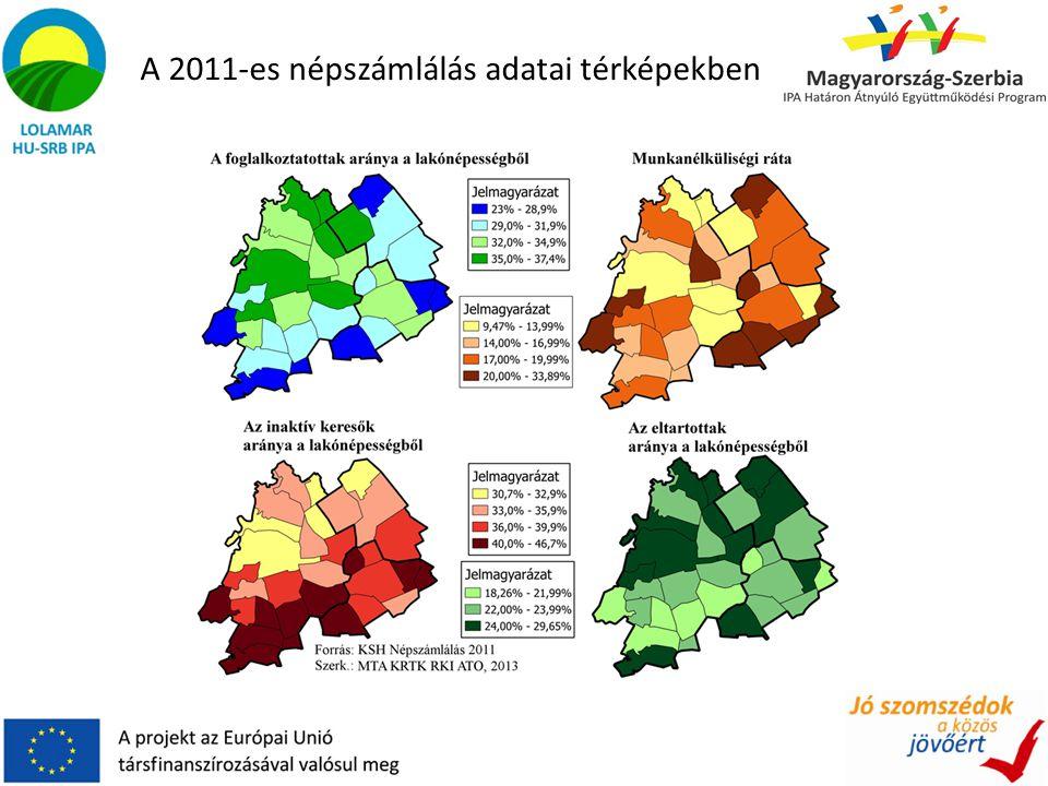 A 2011-es népszámlálás adatai térképekben