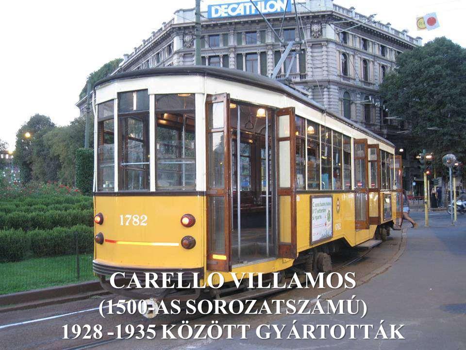 CARELLO VILLAMOS (1500-AS SOROZATSZÁMÚ) 1928 -1935 KÖZÖTT GYÁRTOTTÁK