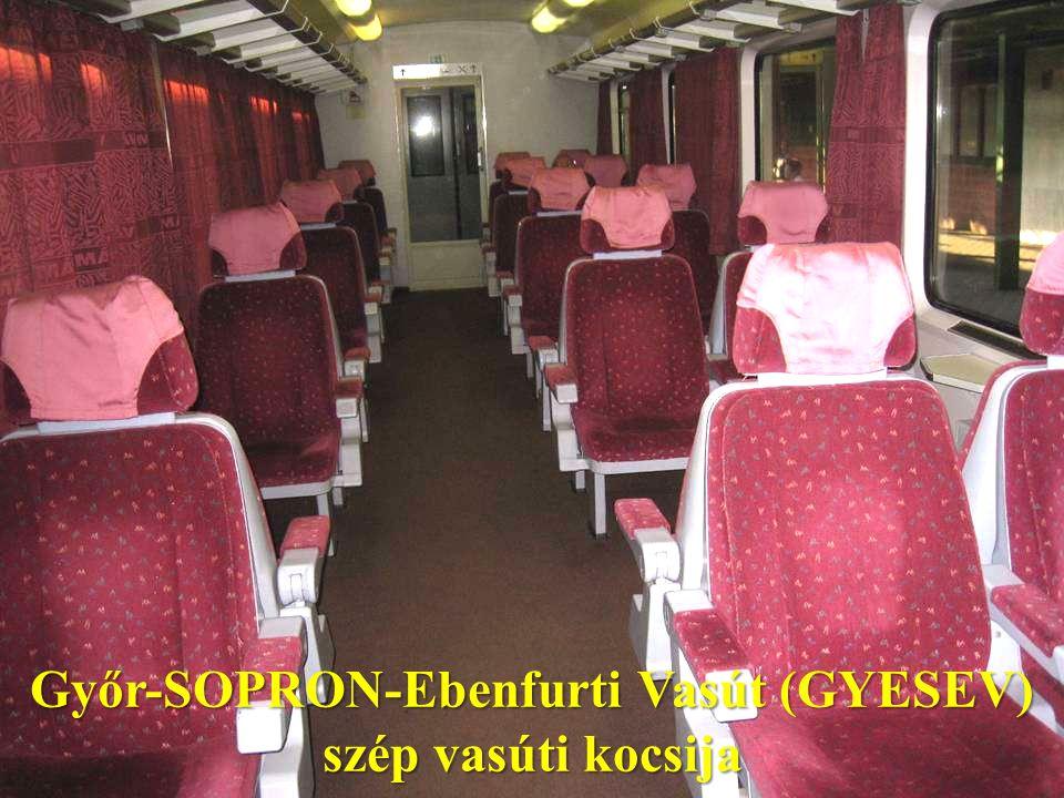 Győr-SOPRON-Ebenfurti Vasút (GYESEV) szép vasúti kocsija