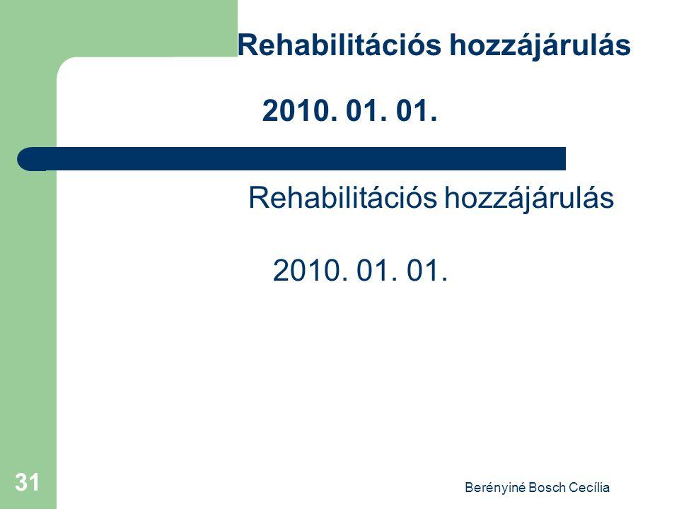 Berényiné Bosch Cecília 31 Rehabilitációs hozzájárulás 2010. 01. 01.