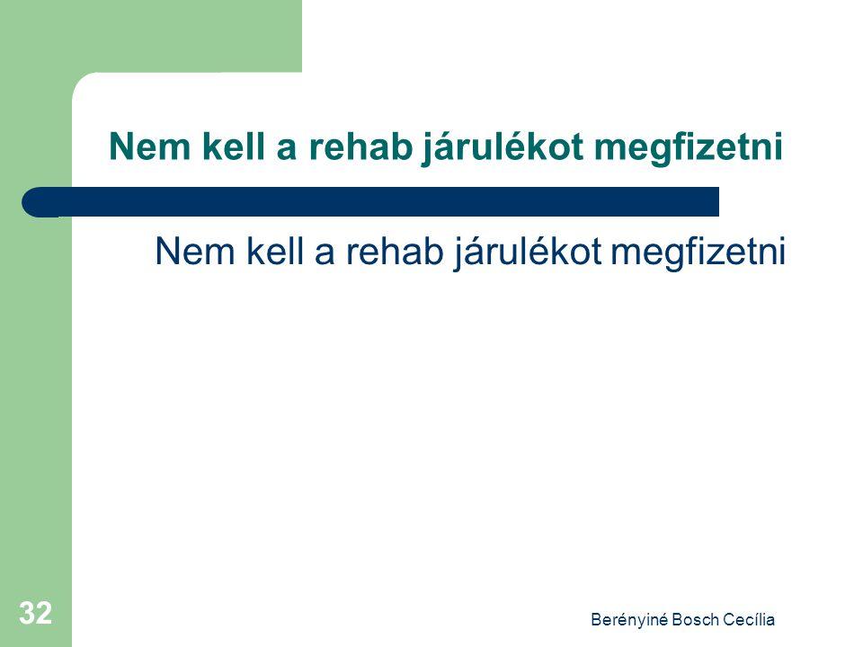 Berényiné Bosch Cecília 32 Nem kell a rehab járulékot megfizetni