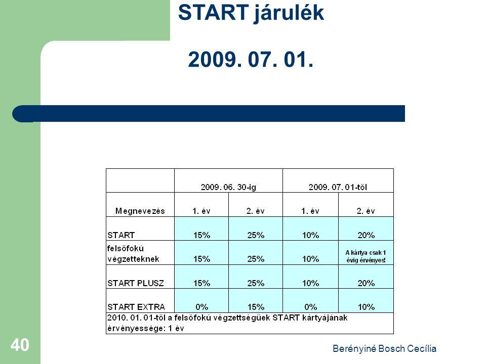 Berényiné Bosch Cecília 40 START járulék 2009. 07. 01.