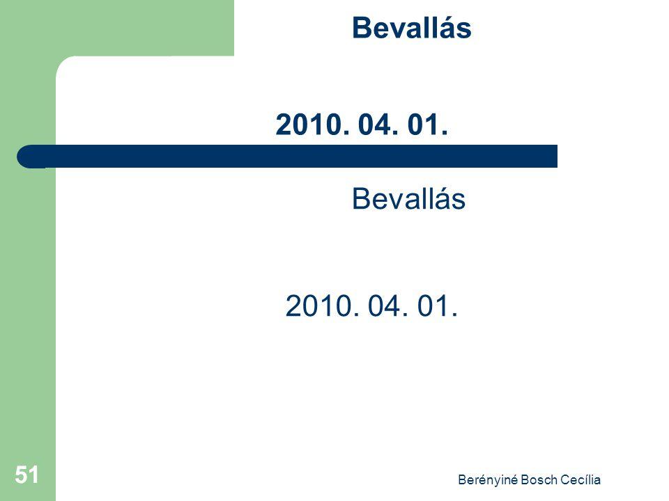 Berényiné Bosch Cecília 51 Bevallás 2010. 04. 01.